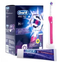 Szczoteczka elektryczna Braun Oral-B PRO 750 Pink + Pasta