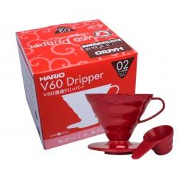 Hario Drip plastikowy Dripper V60-02 czerwony