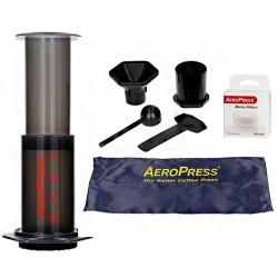 AeroPress zaparzacz do kawy z filtrami (Zestaw z pokrowcem)