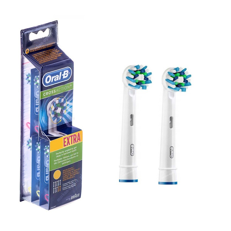 Końcówki Do Szczoteczki Elektrycznej Oral B Crossaction Eb 50 2 Sztuki