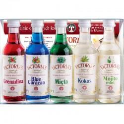 Victoria Cymes Zestaw syropów do koktajli i drinków 5 x...