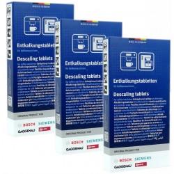 3 x 3 Tabletki odkamieniające Bosch Vero EQ CAFE Siemens...